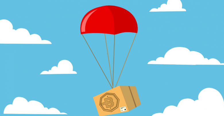 blockchain community with airdrops