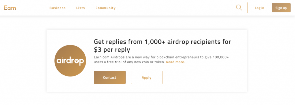 best airdrop websites earn.com